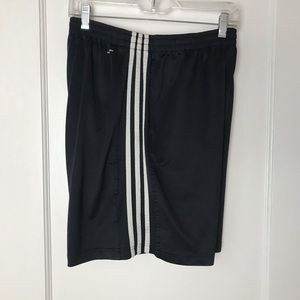 Men's Adidas Black White 3 Stripe Soccer Shorts